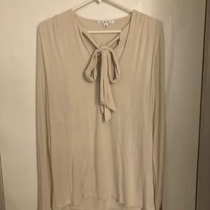Long sleeve cream colored cabi top